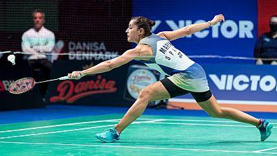 Danisa Denmark Open. 1/4 Final: Carolina Marín - Zhang Bei Wen