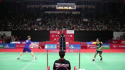 Indonesia Masters Final Individual masculina: A.S. Ginting - A. Antonsen