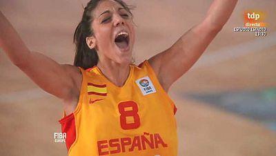 Baloncesto - Campeonato de Europa femenino. 1ª semifinal: España - Serbia