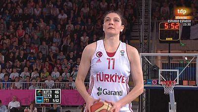 Baloncesto - Campeonato de Europa femenino. 2ª semifinal: Turquia - Francia