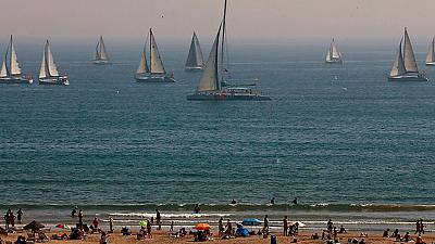 Calor en las costas atlántica y cantábrica de la Península