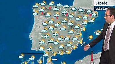 Chubascos fuertes en Cataluña y viento fuerte en el valle del Ebro