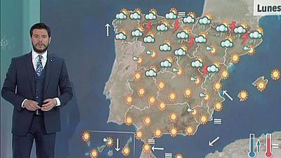 Chubascos y tormentas en el norte peninsular