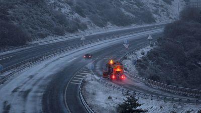 El frío invernal marca el primer día del año 2021