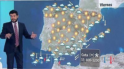 Fuerte temporal en Canarias y mucho frío en el interior peninsular