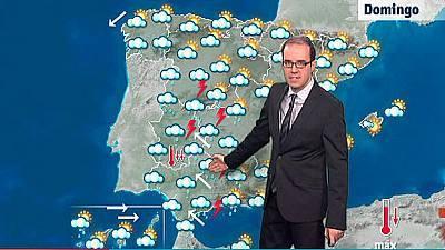 Fuertes lluvias en Andalucía, Extremadura y Castilla y León