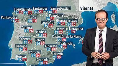 Inestabilidad y descenso de temperaturas de nuevo para este viernes y sábado