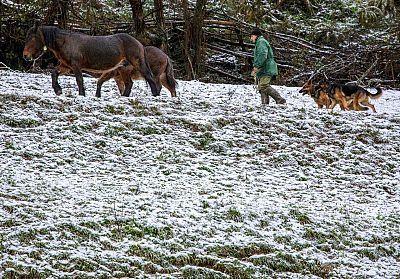 La llegada de una nueva borrasca trae más frío y nieve