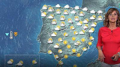 Lluvias en Cataluña y descenso general de temperaturas en el interior de la Península
