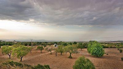Precipitaciones en el este de Cataluña y Baleares