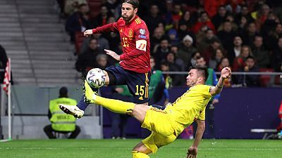 Fútbol - UEFA. Clasificación Eurocopa 2020: España - Rumanía