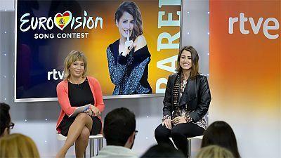 2016 - Primera rueda de prensa de Barei como representante de España en Eurovisión