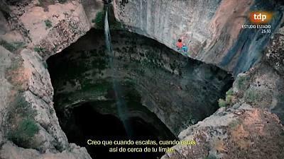 Escalada Cascada Baatara. David Lama