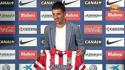 Acto de presentación de David Villa como jugador del At. Madrid