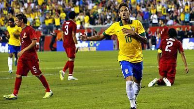 Amistoso internacional. Brasil - Portugal