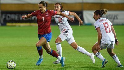 Clasificación Eurocopa femenina 2021. 2ª jornada: República Checa - España
