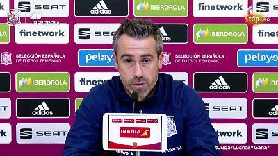 Convocatoria Selección Española Femenina. Rueda de prensa de Jorge Vilda