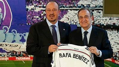 Presentación de Benítez como entrenador del Real Madrid