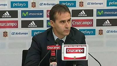 Rueda de prensa Julen Lopetegui, Seleccionador español