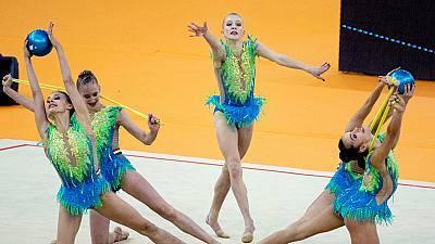 rítmica - Campeonato de Europa Finales individual Junior+Conjuntos Senior 2º ej. Grupo B