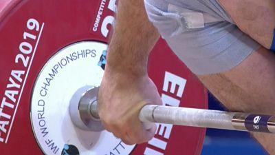 Campeonato del Mundo 2019. Final 96 kg. Masculinos, arrancada