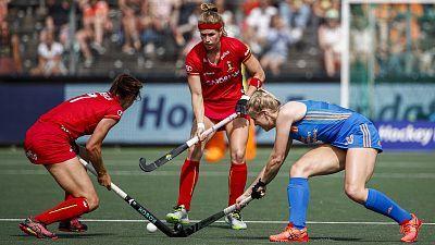 Campeonato de Europa femenino. 1ª semifinal: Holanda - Bélgica
