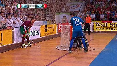 Hockey Patines - Campeonato de Europa. Final: Italia-Portugal