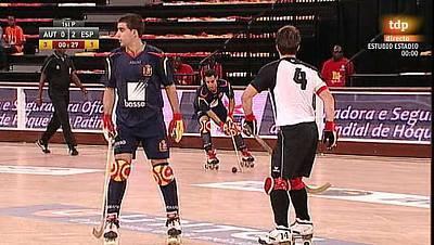 Hockey patines - Campeonato del Mundo. 1ª fase. Austria - España