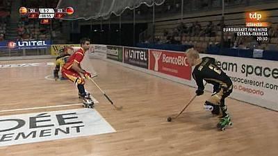 Hockey Patines - Campeonato del Mundo. 1ª semifinal: España-Alemania