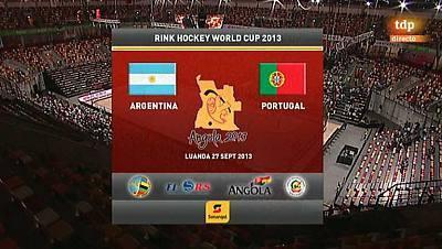 Hockey patines - Campeonato del Mundo. 2ª semifinal. Portugal - Argentina
