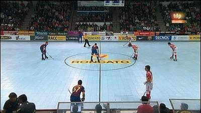 Hockey patines - Liga española - 4ª jornada: Roncato Pati Vic-F.C. Barna
