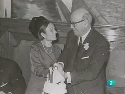 Pilar Galdiano y Ricardo Zamora