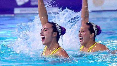 artística - Clasificación olímpica final rutina libre duos