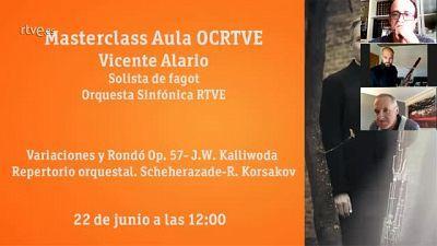Masterclass Aula OCRTVE Vicente Alario 22 de junio