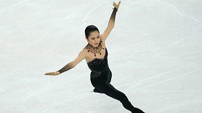 Patinaje artístico - Copa de China. Programa corto femenino.
