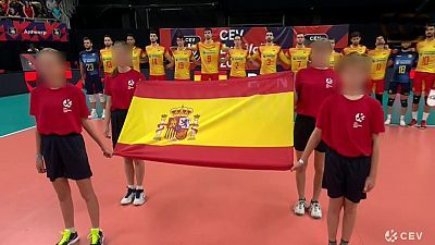 Campeonato de Europa Masculino: Bélgica - España. Desde Amberes (Bélgica)