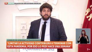 29/03/2020 RP del presidente de la Comunidad Autónoma, Fernando López Miras