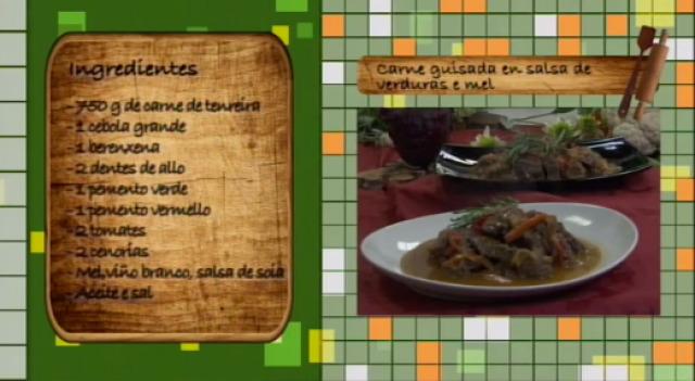 Carne guisada en salsa de verduras e mel - 29/10/2015 10:30
