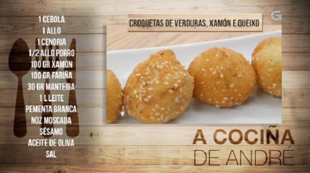 Croquetas de verduras, xamón e queixo - 09/02/2018 11:00