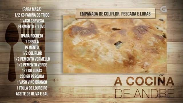 Empanada de coliflor, pescada e luras - 21/02/2018 11:00