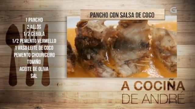 Pancho con salsa de coco - 19/04/2018 11:00