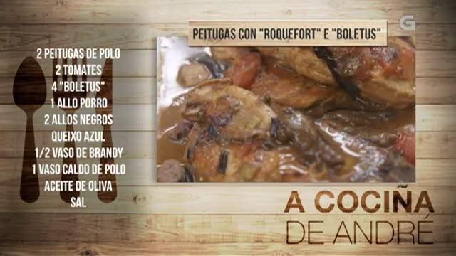 Peitugas con roquefort e boletus - 11/06/2018 11:00