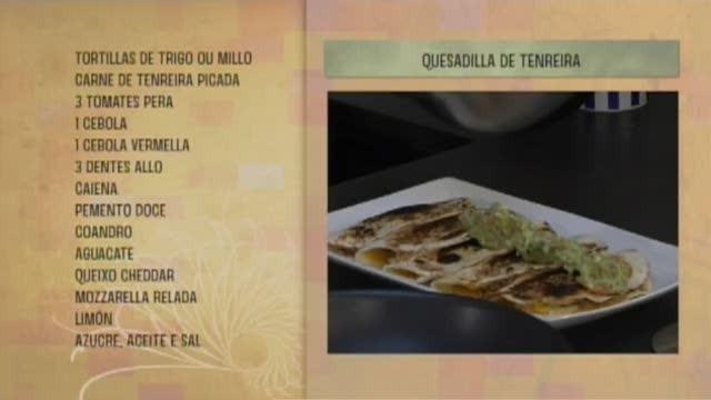 Quesadillas de tenreira con guacamole - 05/07/2017 10:30