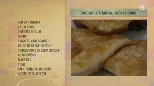 Samosas de tenreira, piñóns e curry - 21/03/2017 10:30