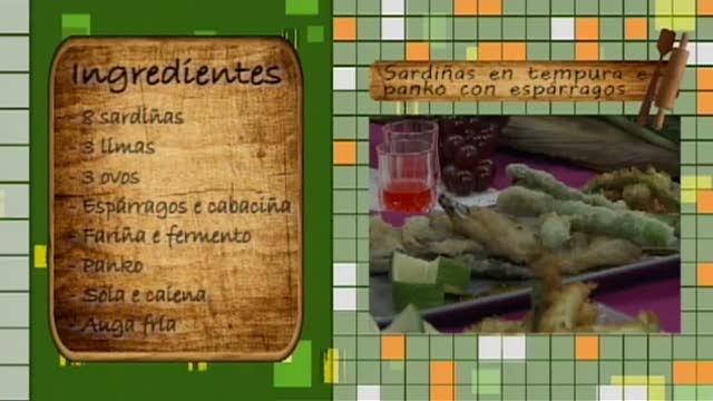 Sardiñas en tempura e panko con espárragos - 09/11/2015 10:30