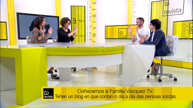 Parte de 'A revista', en lingua de signos coa Familia Vázquez TV - 14/06/2019 12:00