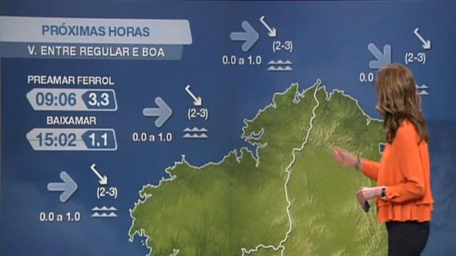 Vento do nordés forte na costa coruñesa - 26/02/2021 20:00