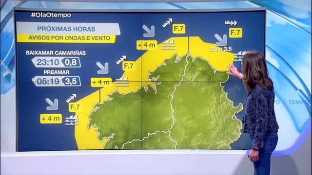 Actívanse avisos por vento no mar con forza 7 - 11/05/2021 20:00