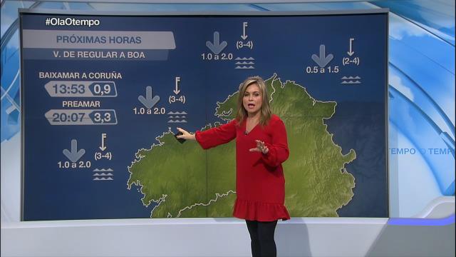 Afrouxa o vento do norte na costa galega - 03/01/2021 21:30