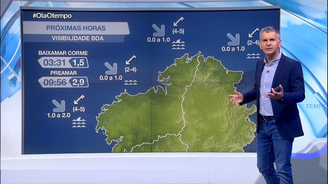 Amaina o vento do nordés na costa galega - 09/09/2020 21:30